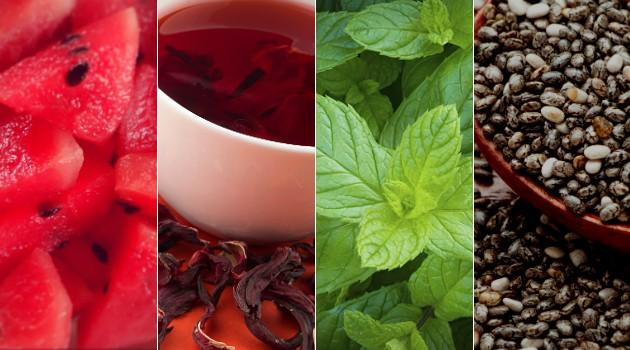 Os ingredientes do suco diurético podem acabar com o inchaço