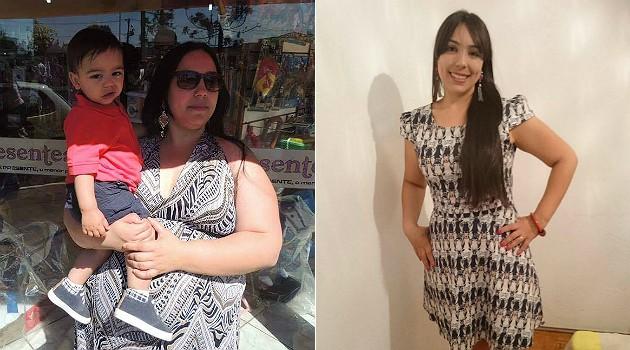 ARQUIVO PESSOAL Com a ajuda da reeducação alimentar, Aline Prado mudou de vida e emagreceu 50 kg