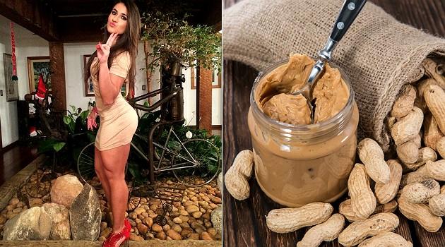 REPRODUÇÃO/INSTAGRAM A pasta de amendoim fit tira a vontade de Ana Etz de comer doce; é preciso moderação no consumo