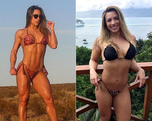 REPRODUÇÃO/INSTAGRAM À esquerda, Michelly antes de ganhar os 8 kg; à direita, depois