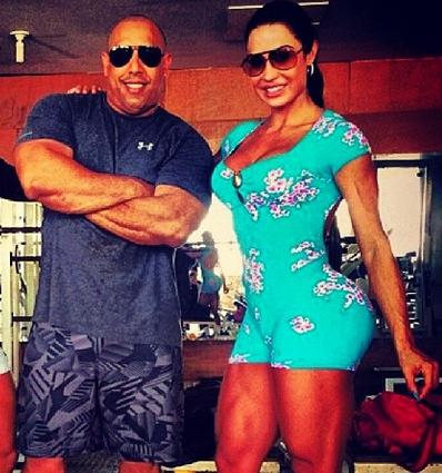 Gracyanne e seu personal Xande Negão (Crédito: Reprodução/Instagram)