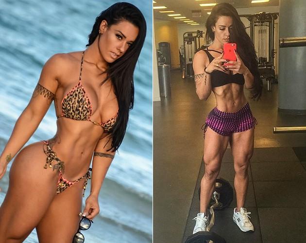 REPRODUÇÃO/INSTAGRAM À esquerda, a modelo antes de fazer a segunda etapa da dieta; à direita, depois